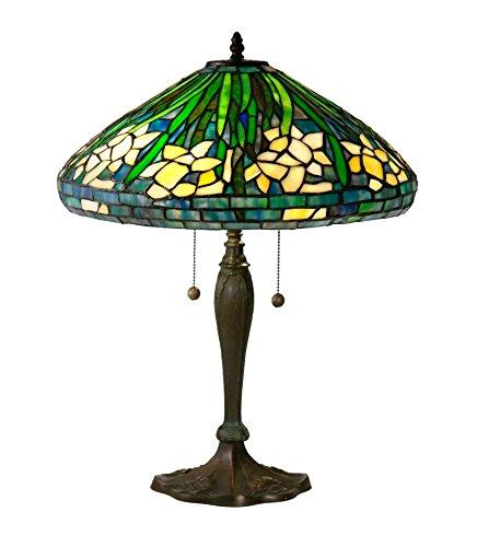 (Springdale by Dale Tiffany TT17100 Daffodil Tiffany Table Lamp)