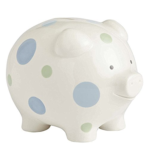 Beginnings by Enesco Big Polka Dot Piggy Bank, 7 inches, -