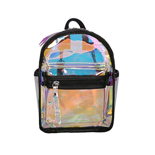Price comparison product image Sunbona On Sale Schoolbag for Fashion Girls Street Transparent Jelly Versatile Bag Student Bag Shoulder Bags Backpack