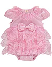 04353dbfd Baby Girl Lace Romper Newborn White Ruffled Jumpsuit Infant Girl Summer  Bubble Rompers Outfits