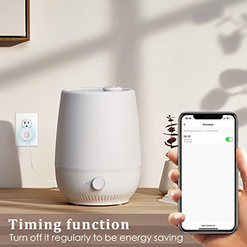 Avatar Controls Smart Plugs Wi-Fi Outlet - Smart Plugs That Work with Alexa/Google Home/Smart Life, Timer ON/Off Plug, Schedule Built-in App, Mini Wireless Socket, No Hub Required, 2 Pack