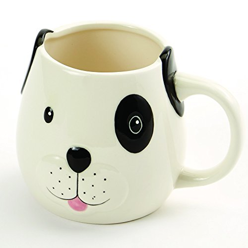 Puppy Play Time Hand Painted Earthenware 12 Oz Dog Mug