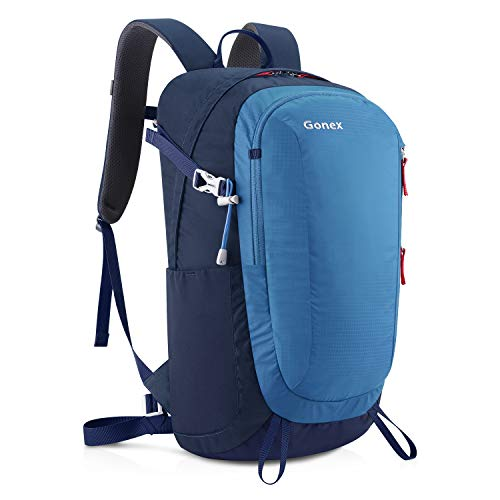 Gonex 30L Hiking Backpack Outdoor Travel Backpack Lightweight Water-Repellent Day Pack Blue