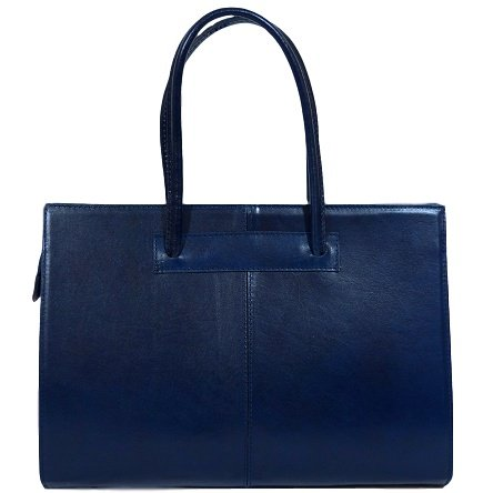 [Womens Leather Business Bag / Laptop Bag / Briefcase, Carelli Italia ROMA blue] (Italian Leather Ladies Briefcases)