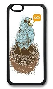 Apple Iphone 6 Case,WENJORS Adorable Twisty Bird Soft Case Protective Shell Cell Phone Cover For Apple Iphone 6 (4.7 Inch) - TPU Black