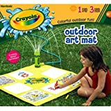 CRAYOLA OUTDOOR ART MAT WITH SPRINKLER