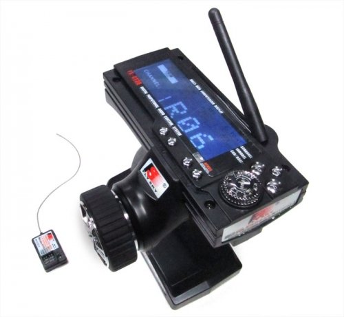 Fly Sky #GT3B-2.4G Flysky FS-GT3B Digital 3CH 2.4Ghz TX & RX LCD Transmitter & Receiver (Best Rc Transmitter Under 100)
