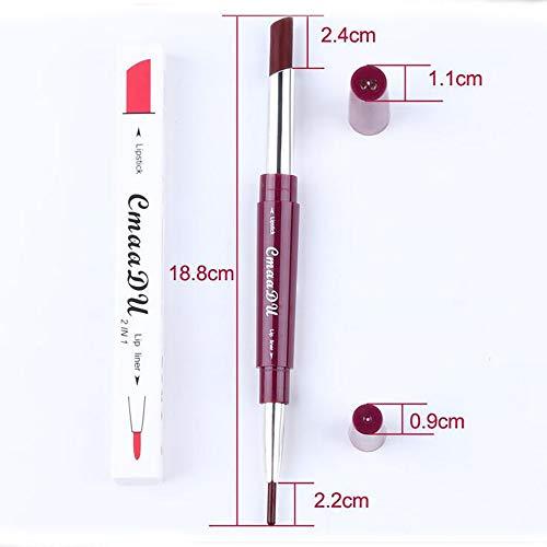 Ownest 6 Color Matte Lipstick Lip Liner Pencil,Double-End Long Lasting Waterproof Lipstick Set-6pcs