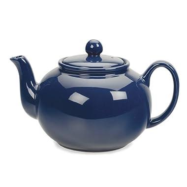 RSVP Blue 6 cup Stoneware Chai Teapot