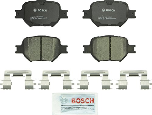 Bosch BC817 QuietCast Premium Ceramic Disc Brake Pad Set For 2005-2010 Scion tC and 2000-2005 Toyota Celica; Front