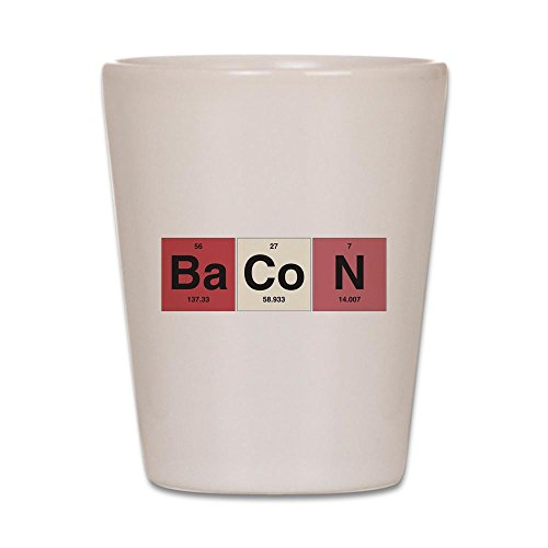 Shot Glass White of Bacon Periodic Table of Elements]()