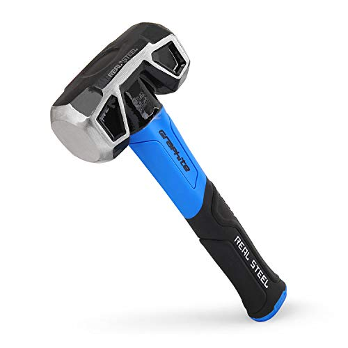 Real Steel 0508 Rubber Grip Forged Jacketed Graphite Drilling Sledge Hammer for Striking 3 lb ()