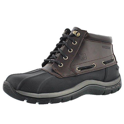 Sperry Top-Sider Mens Glacier Winter Boot (7.5 (D)M US, Black/amaretto) - Glacier Winter Boots