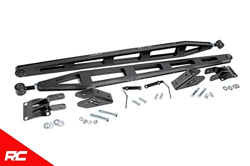 (Rough Country Traction Bar Kit 2011-2019 Chevy Silverado GMC Sierra 2500HD 3500HD 4WD 11001)