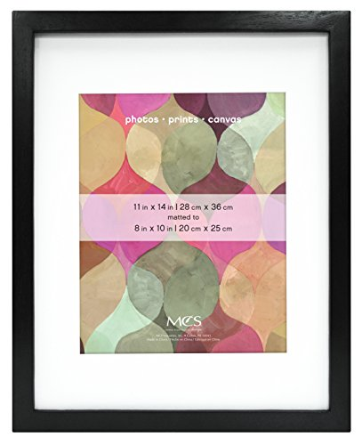 Boards Box Canvas - MCS 11x14 Inch Art Frame with 8x10 Inch Mat Opening, Black (47561)