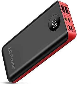 JC Power Cargador de teléfono portátil de 26800 mAh, batería ...
