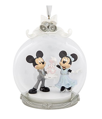 Disney Parks Mickey Minnie Mouse Wedding Figurine Dome