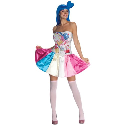Katy Perry Secret Wishes Candy Girl Costume, Multi, (Halloween Costumes Katy Perry)