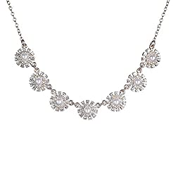 Rhinestone with Faux Pearl Alloy Necklace