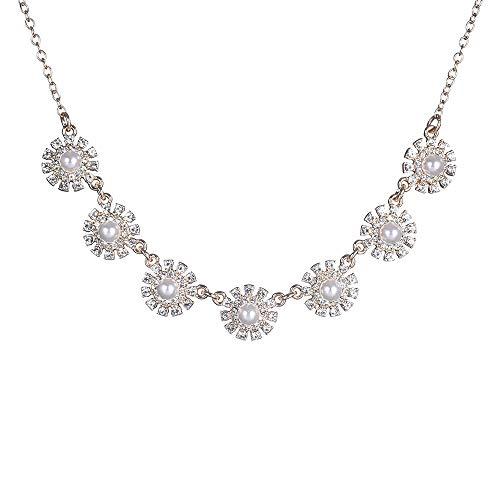 Collar Necklace Rhinestone...