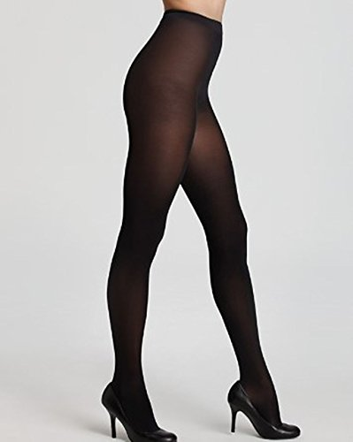 WOLFORD Satin Opaque 50 Tights 18379 (Large, Nearly Black) -