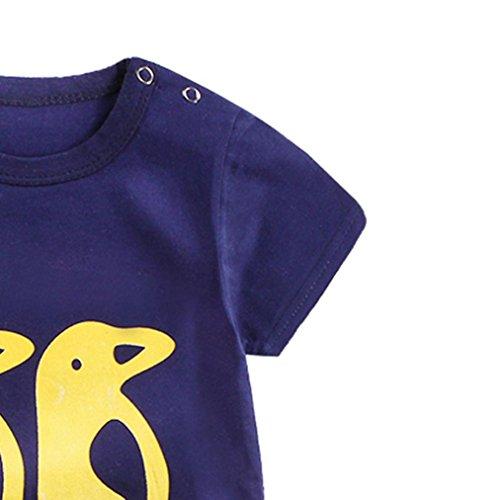 Omiky® Säuglingsbaby-Mädchen-Karikatur-Spielanzug-Niedlicher Overall-kletternde Kleidung Marine