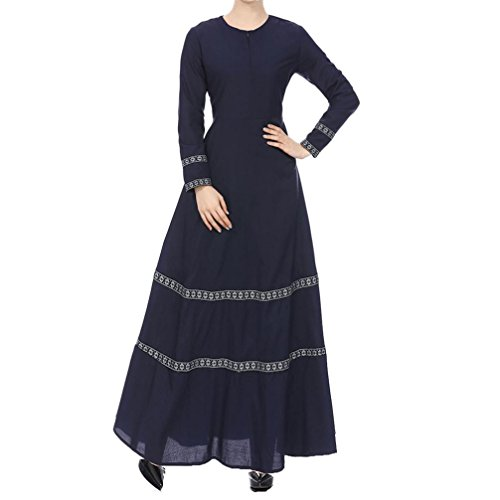 62b04afee0ba2 Mikey Store 2018 New Muslim dresses Long Skirts Dress Islamic Clothing for  Women (Large
