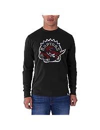 47 Brand Toronto Raptors Men's Long Sleeve Flanker Tee (Black)