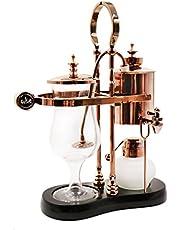 Diguo Belgian Luxury Royal Family Balance Belgium Syphon Coffee Maker Elegant Design Retro-Style(Rose Golden)