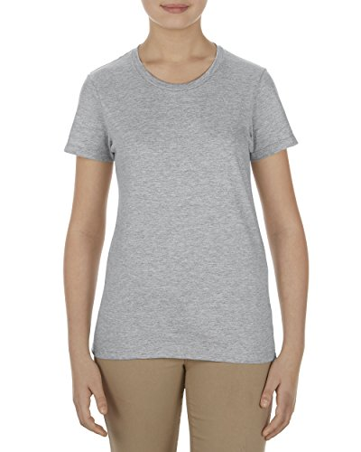 Alstyle Apparel AAA Women's Ultimate Ringspun Boyfriend T-Shirt, Athletic Heather Gray, - Pima Sleeve Jersey Stretch