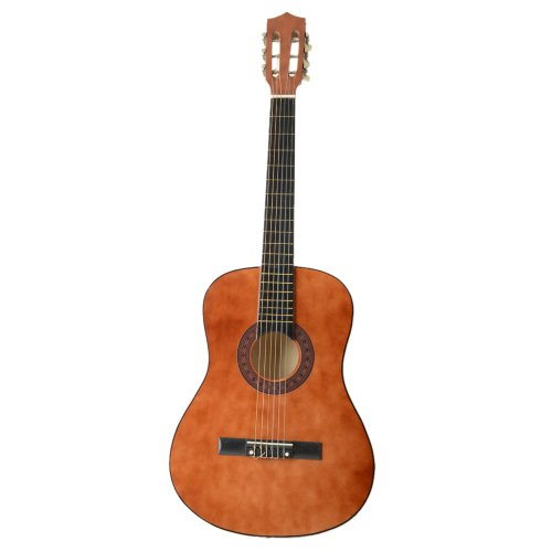 38'' Beginner Classical Guitar Starter Package Student Guitar With Gig Bag,Strap and Pick,Coffee color by OASIS FOX