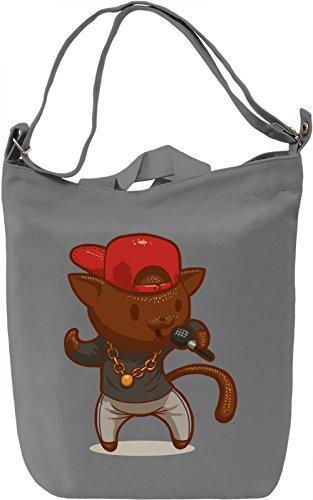 Rap kitty Borsa Giornaliera Canvas Canvas Day Bag  100% Premium Cotton Canvas  DTG Printing 