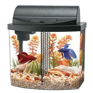Aqueon aquarium betta bow 2 5 gallon acrylic for Fish tank decorations amazon