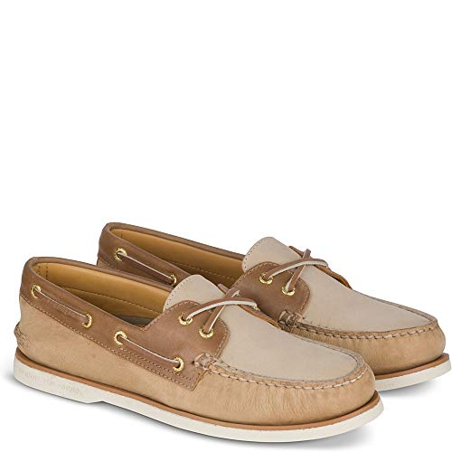Sperry Top-Sider Gold Cup Authentic Original Pastel Boat Shoe Men 12 Tan/Brown/Cement