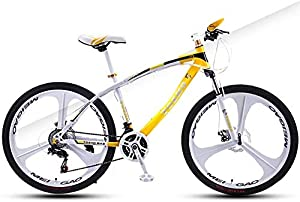 MGE Children Bicycle,Kids Bike, Children's Mountain Bike, 24 Inch, with Shock Absorption, High Carbon Steel Frame High Hardness Off-Road Dual Disc Brakes
