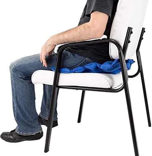 VGZ Air aufblasbare Sitzkissen hitzeversiegelte Konstruktion Einzigartige Einstellbare Festigkeit & Easy Inflation für Reise Pressure Point Schmerzlinderung für Rollstuhl Auto Büro