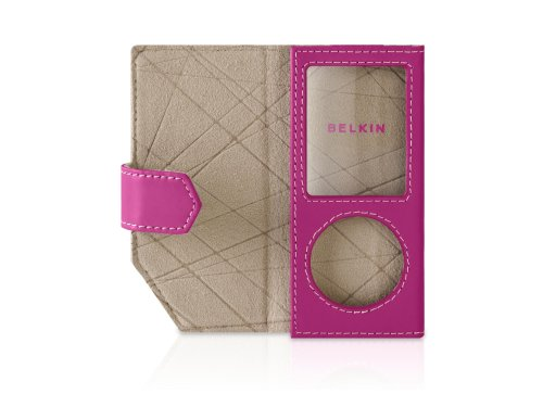 - Belkin Leather Folio Case for iPod nano 4G (Pink)