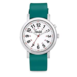 Speidel Original Scrub Watch – Medical Scrub Colors, Easy Read Dial, Second Hand, Water Resistant