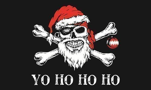 5ftx 3ft YO HO HO PIRATE CHRISTMAS FLAG BANNER PARTY DECORATION Top Brand