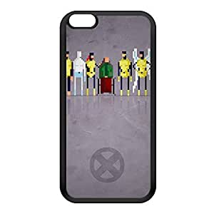 8Bit - Marvel Xmen Original Black Silicon Rubber Case for iPhone 6 Plus by DevilleArt + FREE Crystal Clear Screen Protector