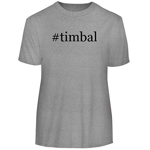 One Legging it Around #Timbal - Hashtag Men's Funny Soft Adult Tee T-Shirt, Heather, XXX-Large