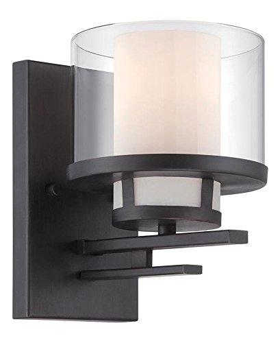 Biscayne Bronze Fusion 1 Light Bathroom Sconce ()