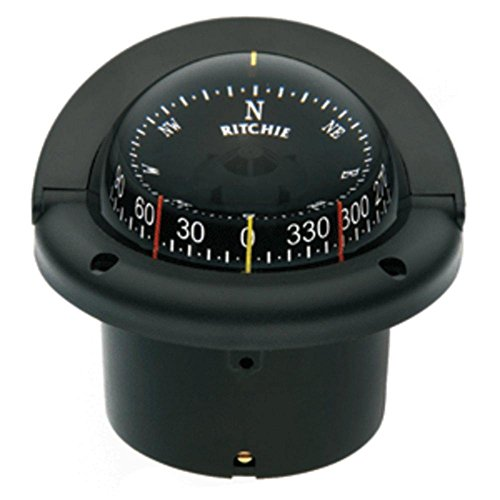 743 Helmsman Flush Mount Compass - Ritchie HF-743 Helmsman Combidial Compass - Flush Mount - Black consumer electronics