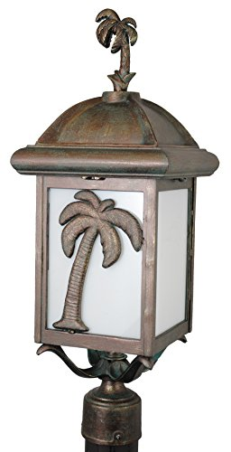Melissa Lighting PT2950 Tropical/British Colonial Outdoor Post Lantern from Palm Tree Series Collection in Bronze/Darkfinish