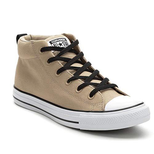 Converse Men's Street Canvas Mid Top Sneaker (10 M US Womens / 8 M US Mens, Vintage Khaki/White/Black) from Converse