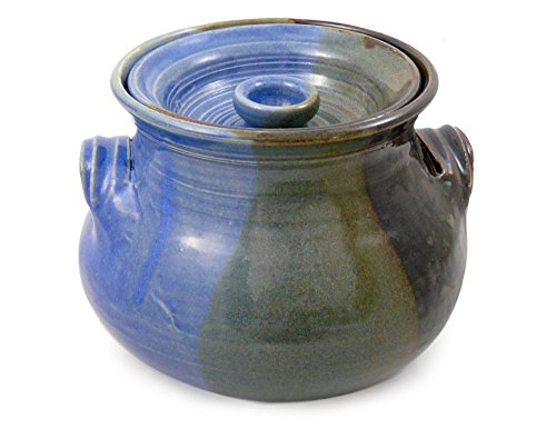 American Made Stoneware 2.25-Quart Bean Pot, Lakeside Blue by Modern Artisans