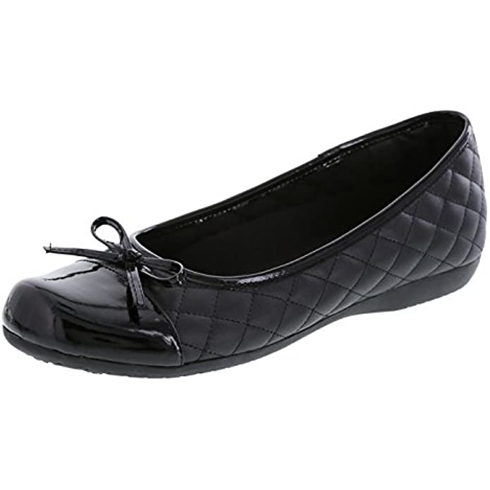 safeTstep Slip Resistant Women's Sasha Quilt Bow Flat