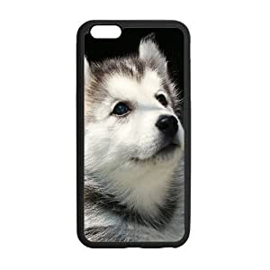 meilinF000Cute Wolf Dog Personalized Custom Phone Case For iPhone 6 Plus 5.5 Plastic And TPU Case Cover SkinmeilinF000