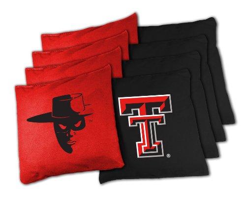Texas Bean Bag (NCAA College Texas Tech Red Raiders 16oz, Duckcloth Cornhole Bean Bags)