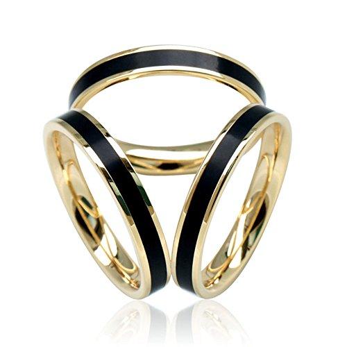 SHANLIHUA Women's 3 Rings Silk Scarves Clip Enamel Simple Style Scarf Ring Smooth Buckle Black White Orange Women Accessories